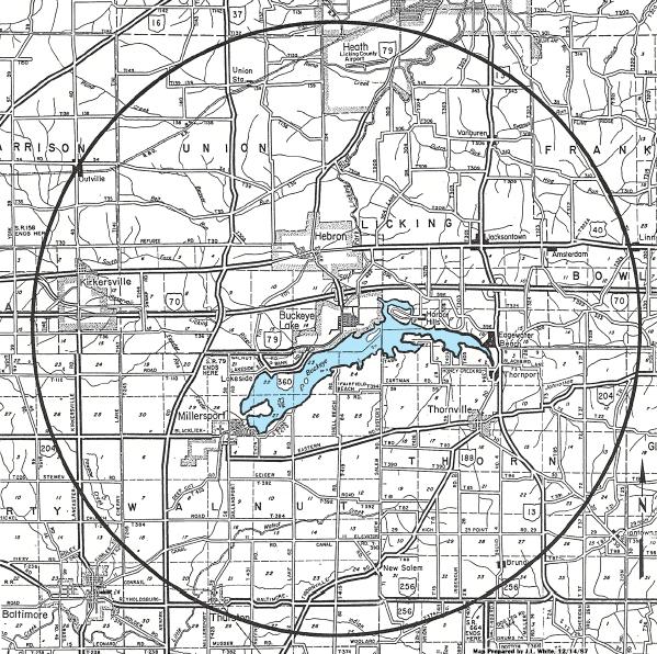Buckeye Lake CBC Map